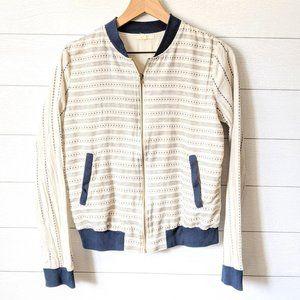 Mystree Striped Cotton Bomber Jacket M